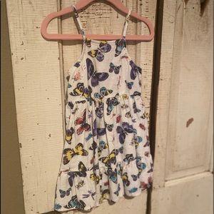 Linen off white butterfly dress 18-24M